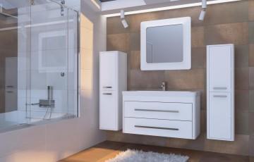 Зеркало для ванной комнаты оптический обман в дизайне интерьера