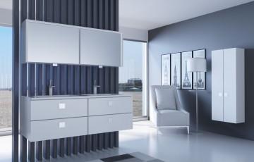 Стеклянная мебель для ванной