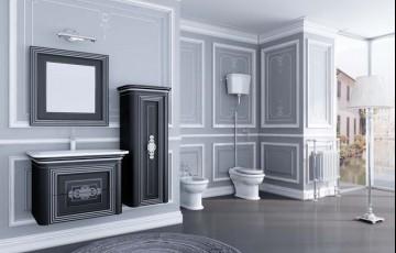 Красивая мебель для ванной комнаты в стиле прованс