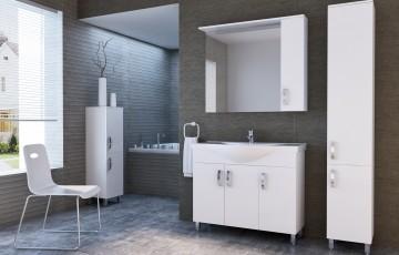 Современные шкафы-пеналы для ванной комнаты