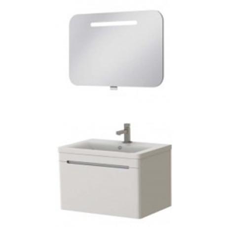 Комплект TIVOLI тумба Tv-80 + зеркало PrM-80 белое