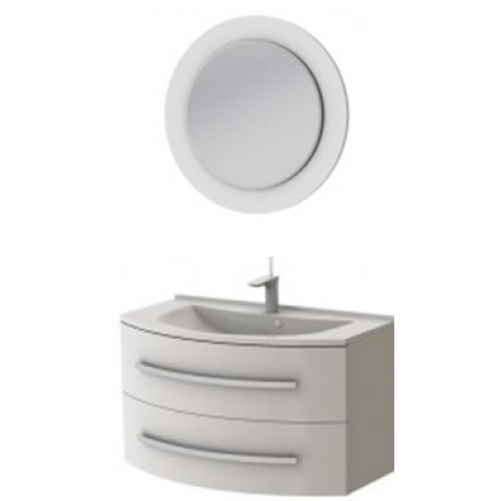 Комплект VANESSA тумба Vn-90 + зеркало VnM белое