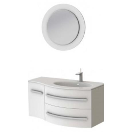 Комплект VANESSA тумба Vndr-110 + зеркало VnM белое