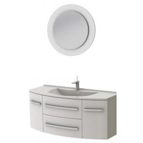 Комплект VANESSA тумба VnM-120 + зеркало VnM белое