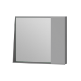 Зеркальный шкаф Manhattan MnhMC-80 серый
