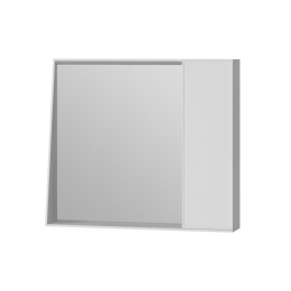 Зеркальный шкаф Manhattan MnhMC-80 белый