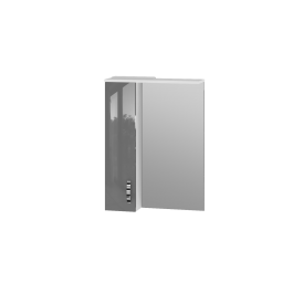 Зеркальный шкаф JUVENTA TRENTO TrnMC-60 левый серый