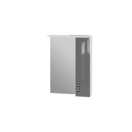 Зеркальный шкаф JUVENTA TRENTO TrnMC-60 правый серый