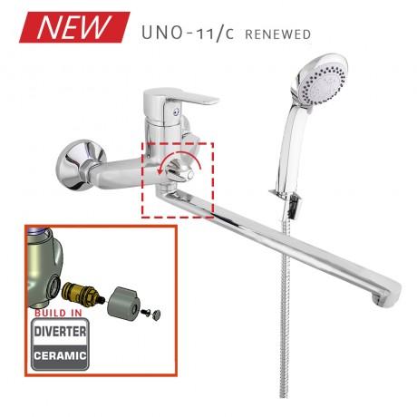 Смеситель в ванную настенный RUBINETA Uno-11/C (К)