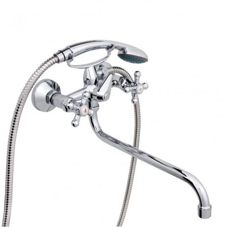 Смеситель в ванную настенный RUBINETA R-1 Cross (40)