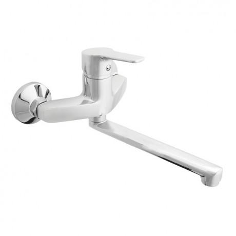 Смеситель в ванную настенный RUBINETA Uno-14