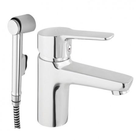 Смеситель для умывальника с гигиеническим душем RUBINETA Uno-17