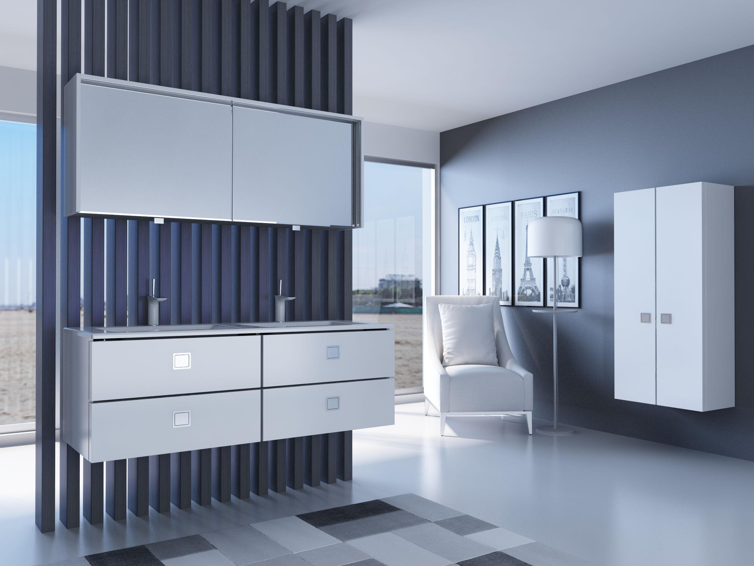 дизайн ванной комнаты в стиле Hi Tech Vanna Kimnata